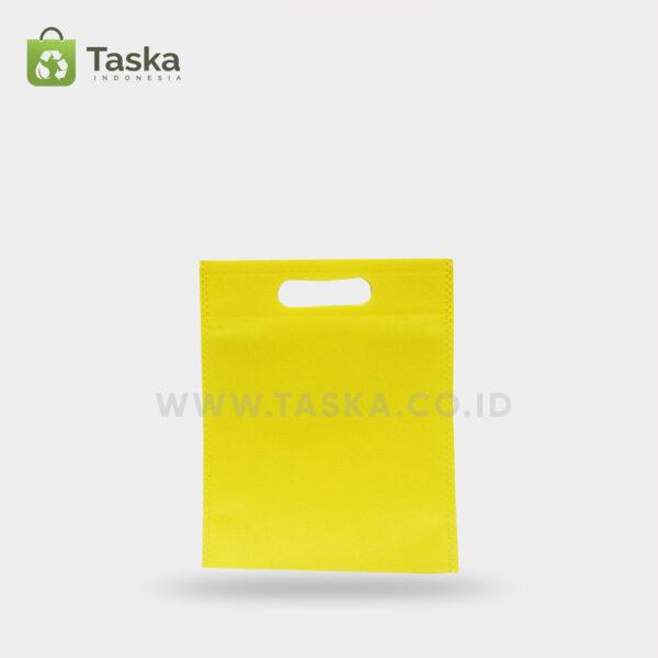 Tas Press Spunbond Oval – Kuning 20×25 Cm – Sisi Depan