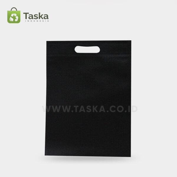 Tas-Spunbond-Oval-Hitam-30×40-Cm-Sisi-Depan