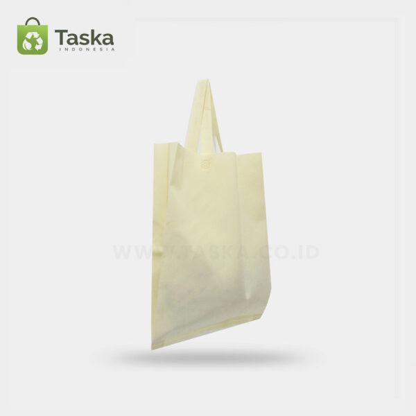 Tas Press Spunbond Handle – Cream 25×35 Cm – Sisi Kiri