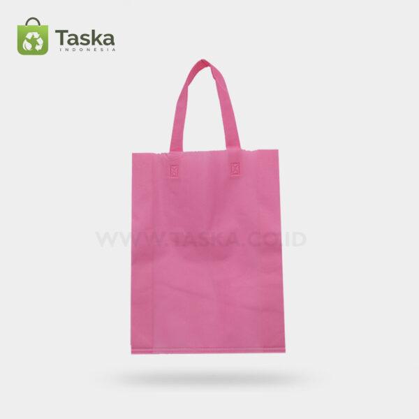 Tas Press Spunbond Handle – Pink 30×40 Cm – Sisi Depan