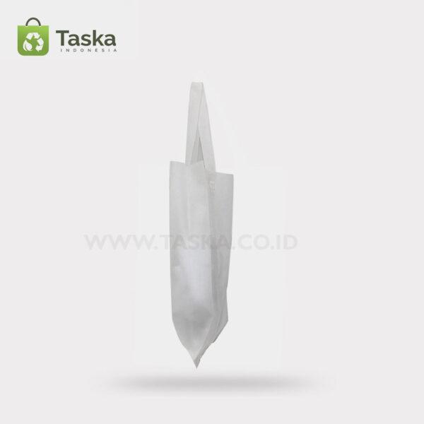 Tas Press Spunbond Handle – Putih 25×35 Cm – Sisi Kanan
