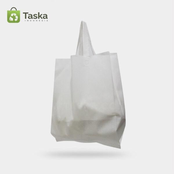 Tas Press Spunbond Handle – Putih 38×45 Cm – Sisi kiri