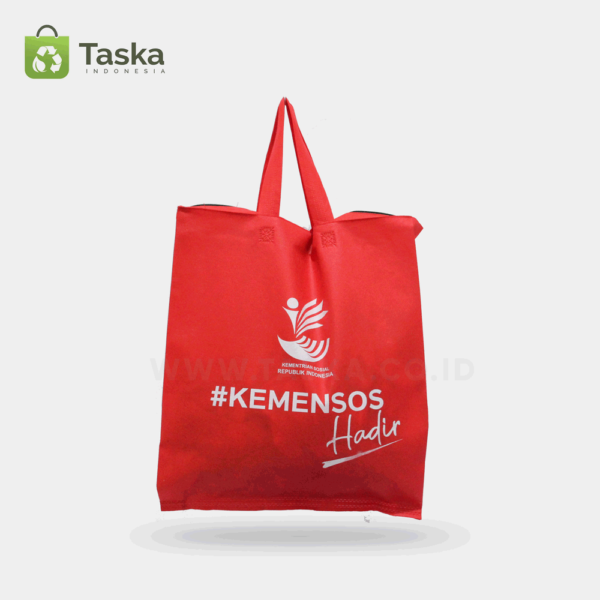 Tas Spunbond Custom KEMENSOS Sisi Depan
