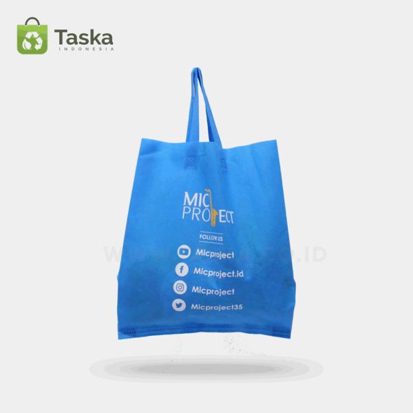 Tas Spunbond Custom Mic Project Sisi Depan
