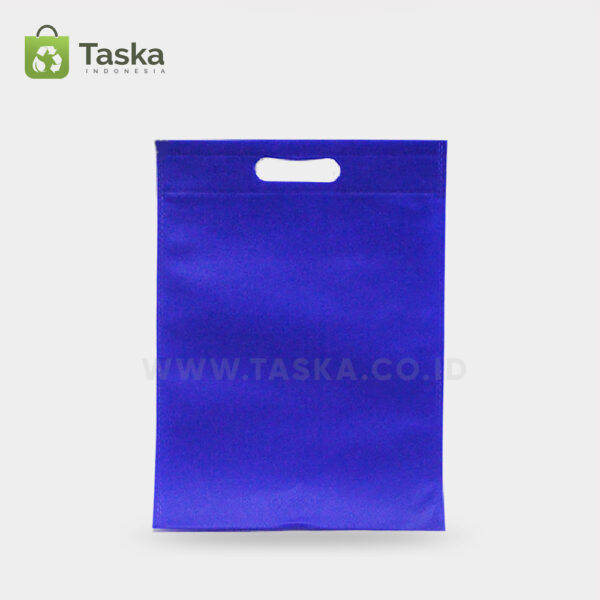Tas-Spunbond-Oval-Biru-30×40-Cm-Sisi-Depan