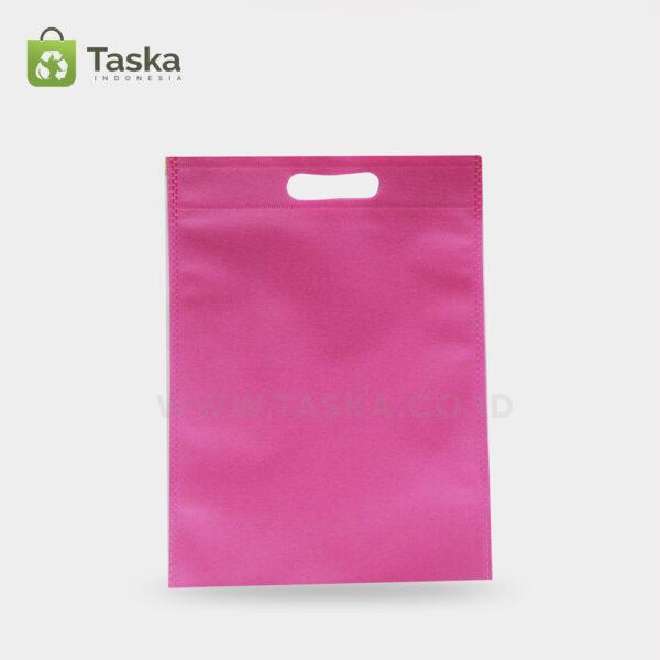 Tas-Spunbond-Oval-Pink-30×40-Cm-Sisi-Depan